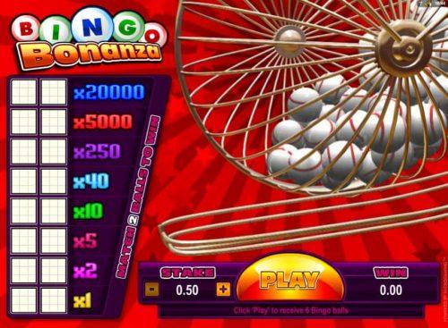 Bonanza Bingo van spelmaker Microgaming