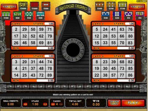 Afbeelding van Mayan Bingo spel
